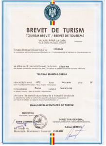 Brevet de turism Hotel Victoria Borsa